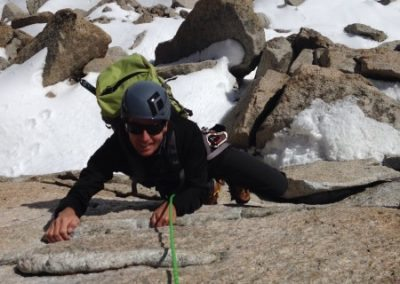 Gloves off on the crux wall