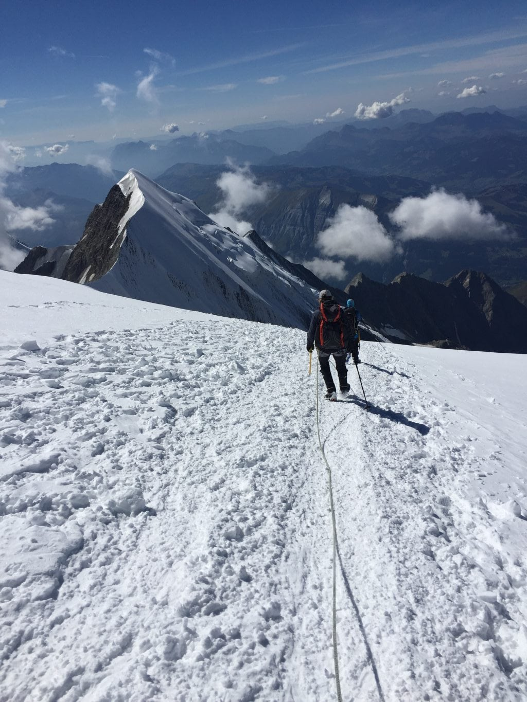 Descending from Mont Blanc