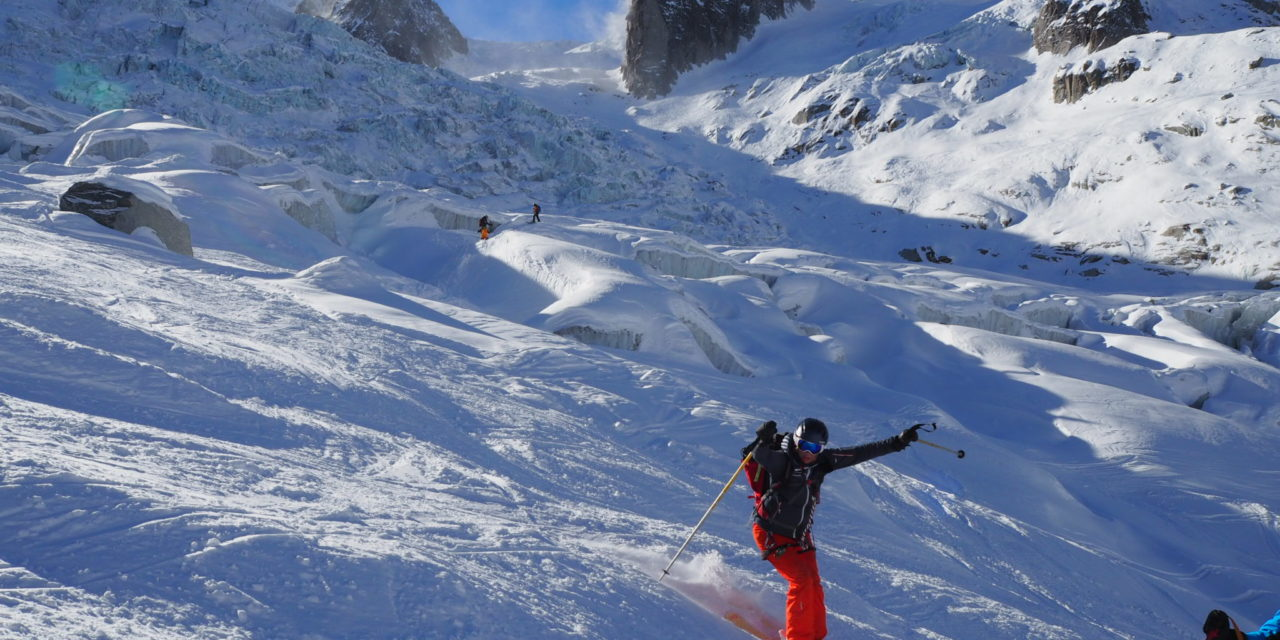 Vallee Blanche Ski Video