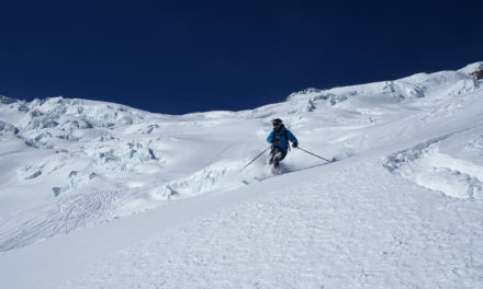 Excellent ski conditions in the Chamonix valley