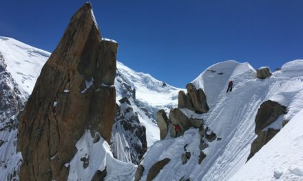 Spring time climbing and skiing in Chamonix